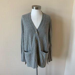 Everlane gray cashmere button down cardigan #6122